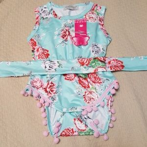 NWT 9-12m beautiful 95% cotton agapoong onsie
